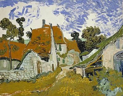 Street In Auvers-sur-oise Art Print by Vincent van Gogh