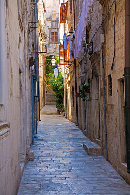 Street In Dubrovnik Art Print by Alexey Stiop