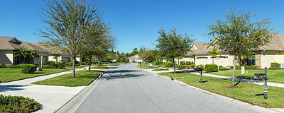 Street In Housing Development In North Print by Panoramic Images