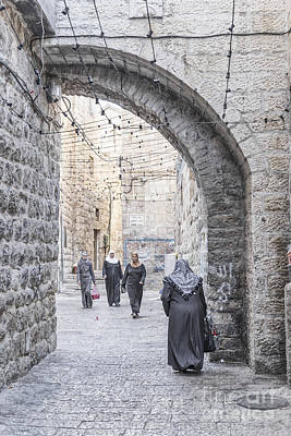 Street In Jerusalem Old Town Israel Art Print