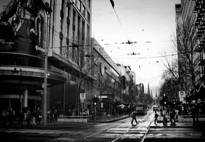 Street In Melbourne  Art Print by Sanjeewa Marasinghe