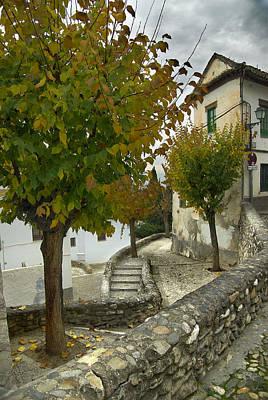 Old Door Photograph - street in old Albaycin in Granada by Guido Montanes Castillo