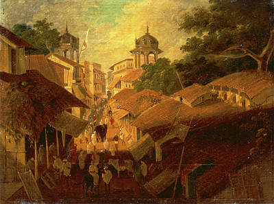Sir Charles Painting - Street In Patna View Of A Street In The City Of Patna by Litz Collection