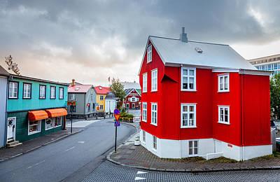 Empty House Photograph - Street In Reykjavik by Alexey Stiop
