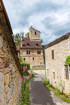 Photograph - Street In Saint-cirq-lapopie by Semmick Photo