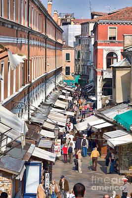 Street In Venice Print by Gabriela Insuratelu