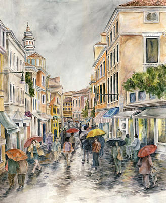 Painting - Street In Venice by Paula Nathan