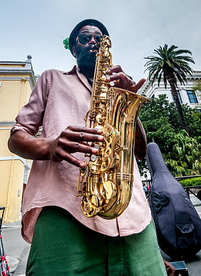 Street Jazz On Display Art Print