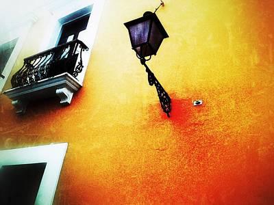 Old San Juan Digital Art - Street Lamp by Olivier Calas