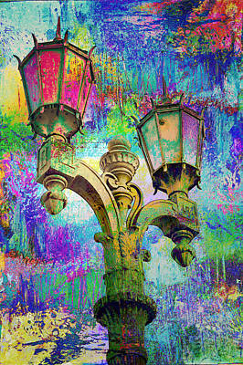 Painting - Street Lamp Rainbows by John Fish