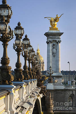 Hotel Des Invalides Photograph - Street Lamps - Paris by Brian Jannsen