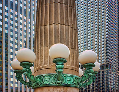 Photograph - Street Lights - Chicago  by Nikolyn McDonald