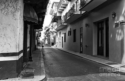 Photograph - Street Lines In Casco Viejo Mono by John Rizzuto