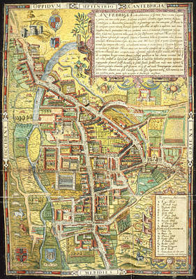 Cartography Photograph - Street Map Of Cambridge by British Library