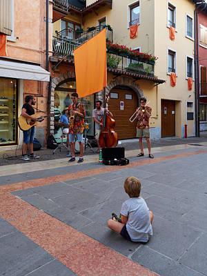 Photograph - Street Music At Lazise. Lago Di Garda by Jouko Lehto