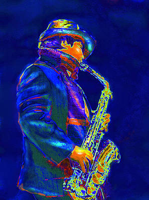 Digital Art - Street Music by Jane Schnetlage