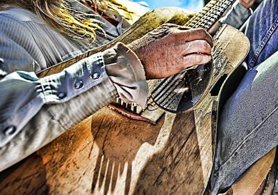 Working Cowboy Photograph - Street Musician 1 by Wildcat Studios