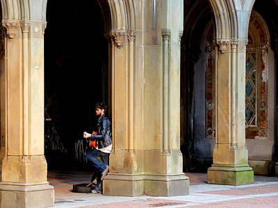 Musicians Royalty Free Images - Street Musician 4 Royalty-Free Image by Andrew Fare