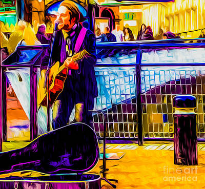 Musicians Royalty Free Images - Street Musician Royalty-Free Image by Algirdas Lukas