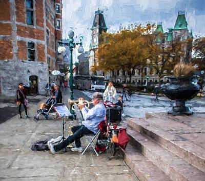 Musicians Royalty Free Images - Street Musician Royalty-Free Image by Bill Howard