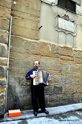 Musicians Royalty Free Images - Street Musician Royalty-Free Image by Cornelia DeDona