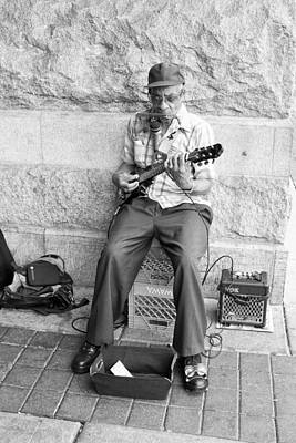 Musicians Royalty Free Images - Street Musician Royalty-Free Image by Hugh Smith