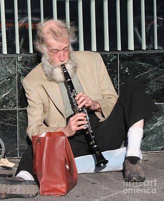 Photograph - Street Musician by John Telfer