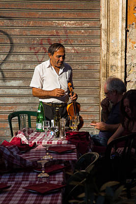 Musicians Royalty Free Images - Street Musician Rome Royalty-Free Image by Allan Morrison
