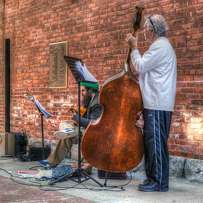 Street Musicians - Great Barrington - No. 2 Art Print by Geoffrey Coelho