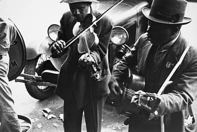 Street Musicians, 1935 Art Print by Granger