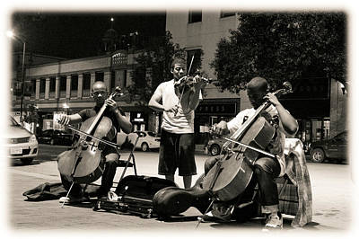 Photograph - Street Musicians 2 by Sennie Pierson