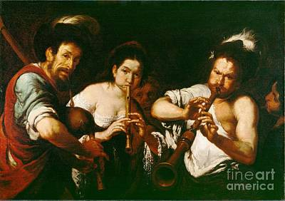 Musicians Royalty Free Images - Street Musicians Royalty-Free Image by Reproduction