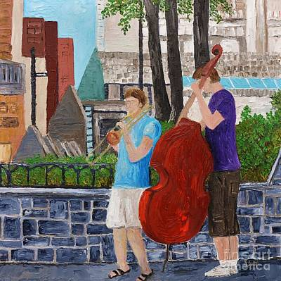 Painting - Street Musicians Revisited by Reb Frost