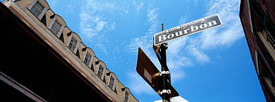 Louisiana Photograph - Street Name Signboard On A Pole by Panoramic Images