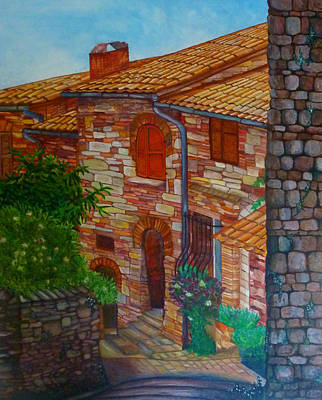 Street Of Assisi Art Print by Beata Dagiel