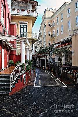 Street Of Capri Art Print
