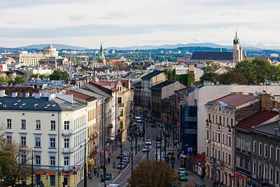 Cityspace Photograph - street of Cracow by Marta Grabska-Press