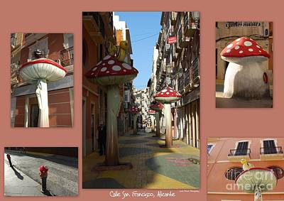 Papier Mache Photograph - Street Of Giant Mushrooms by Linda Prewer