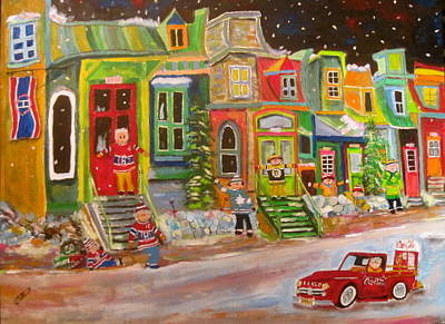 Snowball Fort Painting - Street Of Icons 2 by Michael Litvack
