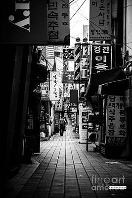 Photograph - Street Of Signboard by Yoo Seok Lee