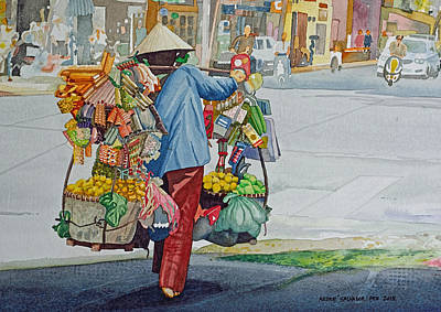 Painting - Street Peddler by Andre Salvador