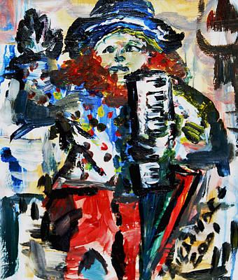 Painting - Street Performer  by Alexandra Jordankova