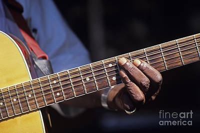 Photograph - Street Performer Playing Guitar by Jim Corwin