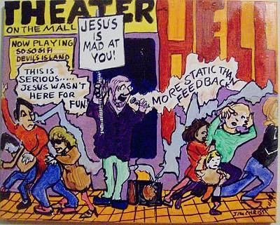 Graphics Painting - Street Preacher by James Christiansen