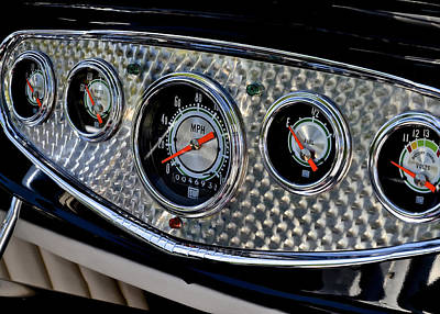 Photograph - Street Rod Gauges by Bill Owen