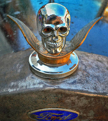 Photograph - Street Rod Radiator Skull by Bill Owen