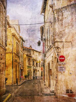 Photograph - Street Scene Arles France Warm by Bob Coates