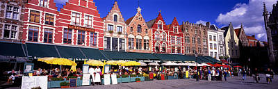 Crowd Scene Photograph - Street Scene Brugge Belgium by Panoramic Images