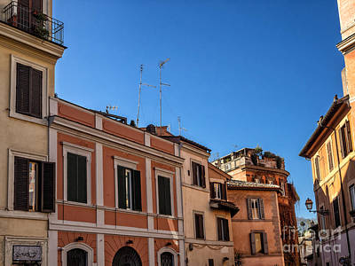 Trastevere Photograph - Street Scene From Trastevere District Of Rome Italy by Frank Bach