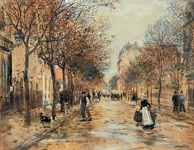 Wet On Wet Painting - Street Scene In Asnieres by Mountain Dreams